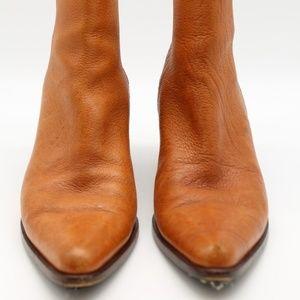 Michael Kors Brown Back Zip Booties Size 7M
